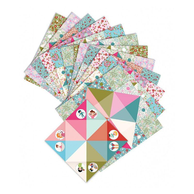 Origami cocottes a gages fleurs djeco 1