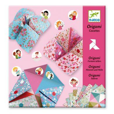 Origami cocottes a gages fleurs djeco